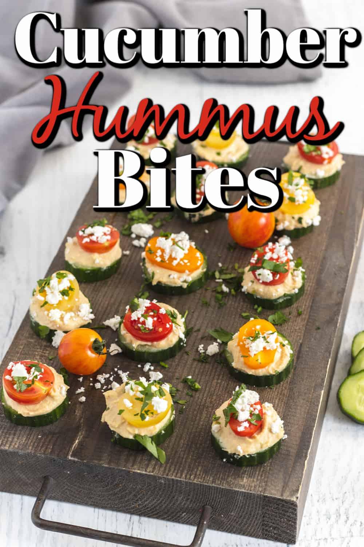 Cucumber Hummus Bites Pin