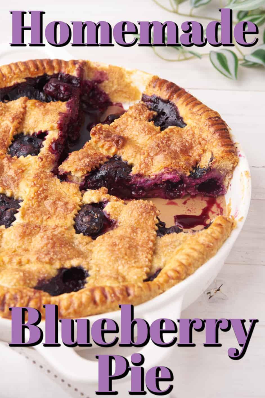 Easy Homemade Blueberry Pie Pin