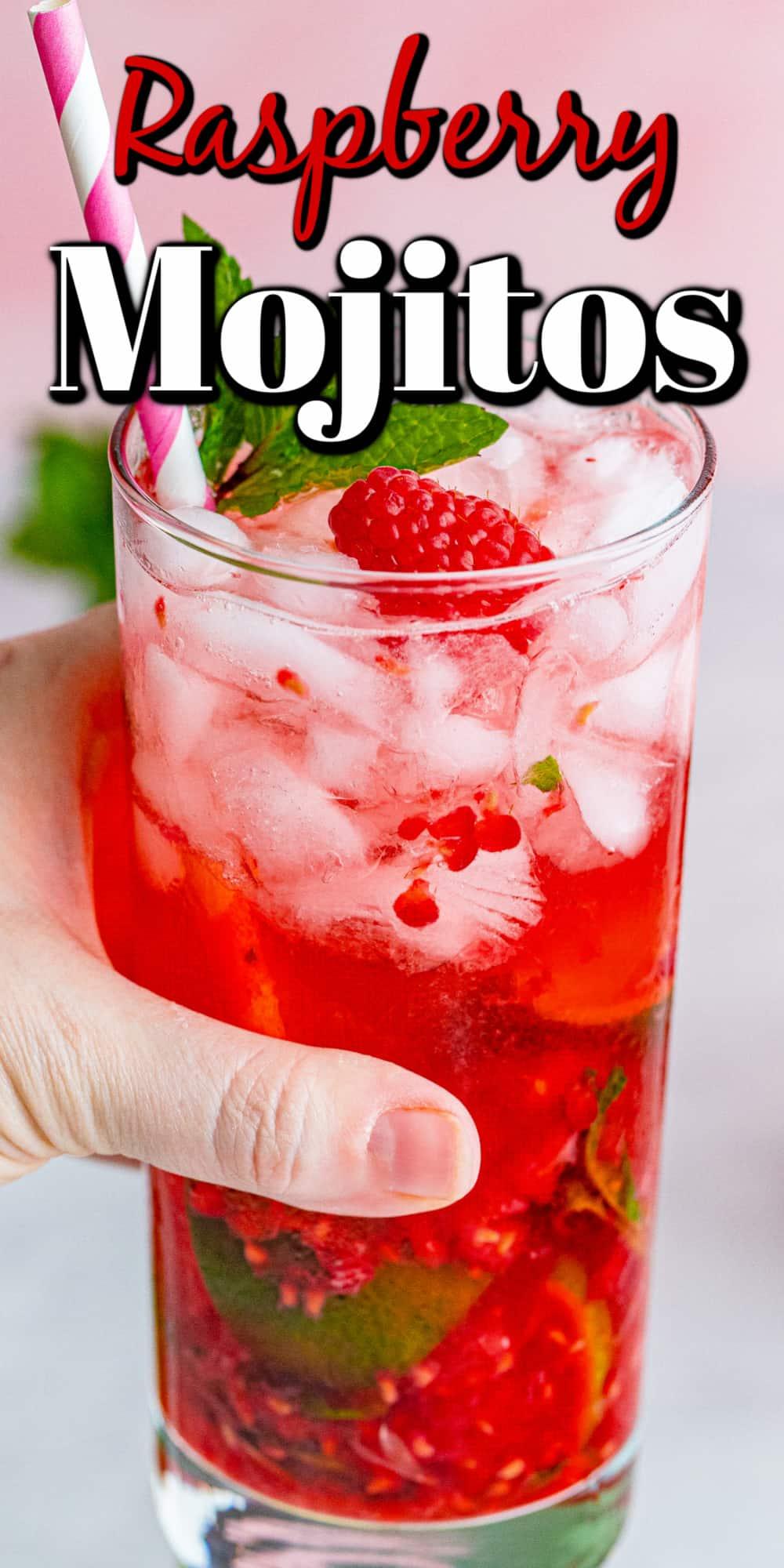 Fresh Raspberry Mojitos Pin