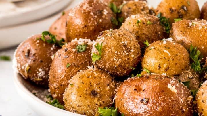 Garlic Herb Smoked Potatoes