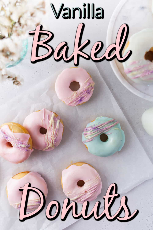 Vanilla Baked Buttermilk Donuts Pin