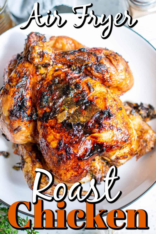 Air Fryer Roast Chicken Pin