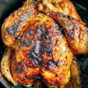 Roast chicken in an air fryer