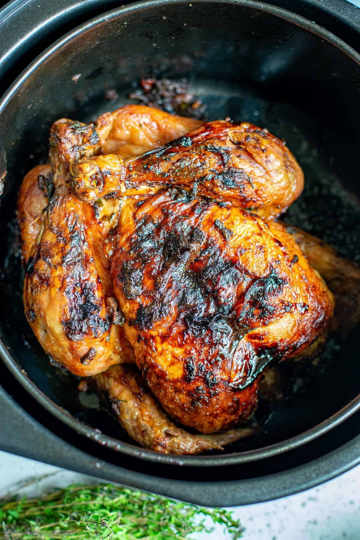 Roasted Chicken in an Air Fryer