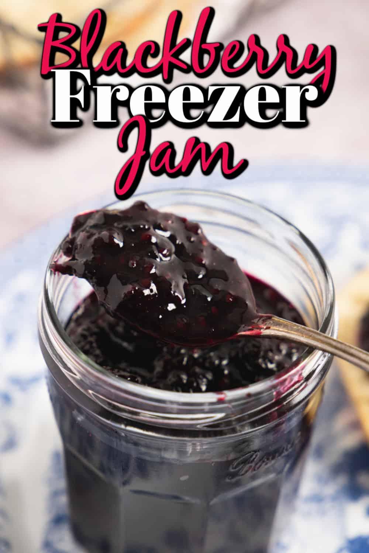 Blackberry Freezer Jam (Small Batch) Pin