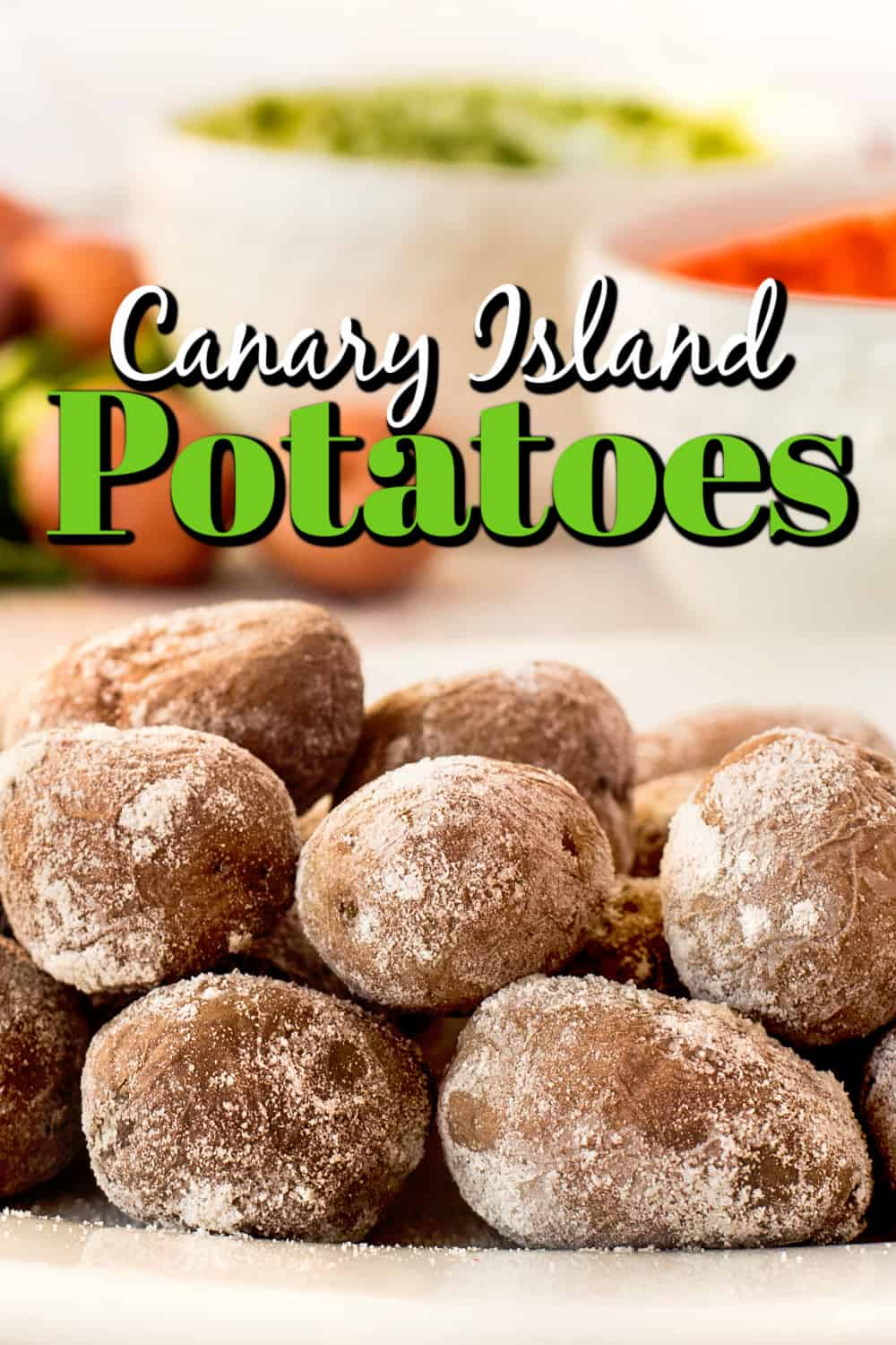 Canarian Potatoes (Wrinkled Potatoes with Mojo) Pin