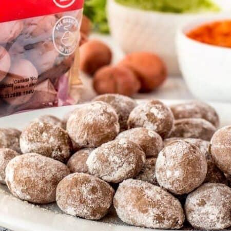 Canarian potatoes on a platter