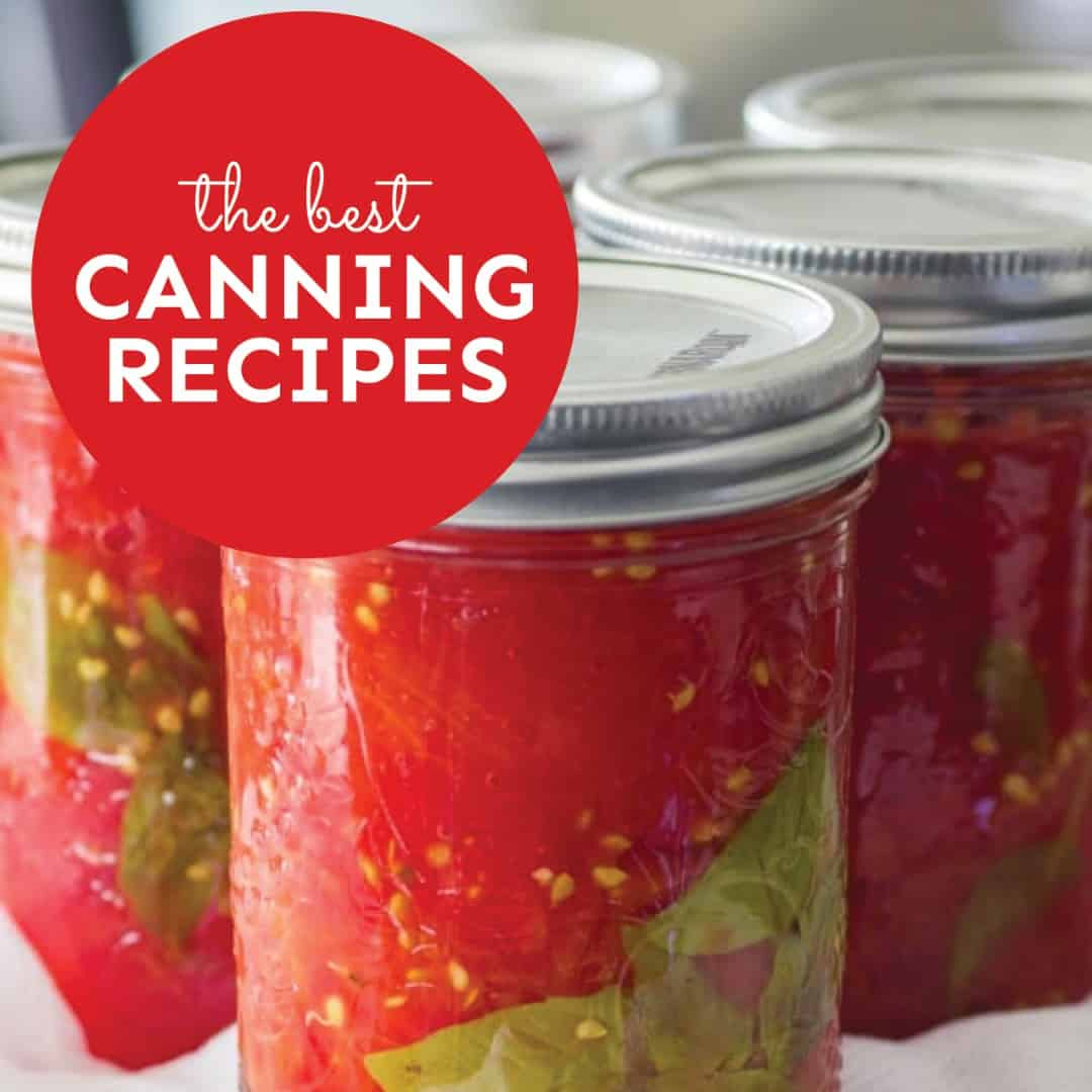 Ebook cover for canning recipes