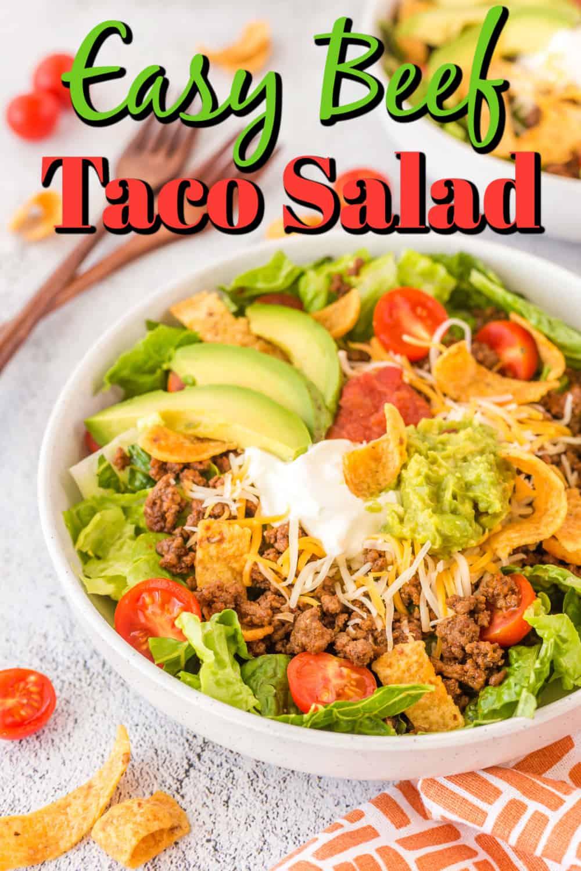 Easy Beef Taco Salad Pin