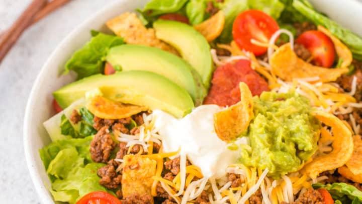 Easy Beef Taco Salad