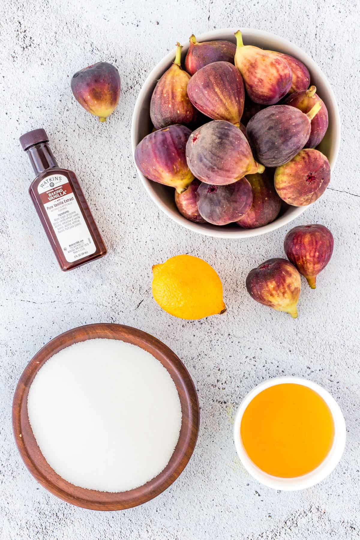 Ingredients for Homemade Fig Jam Recipe {Small Batch}