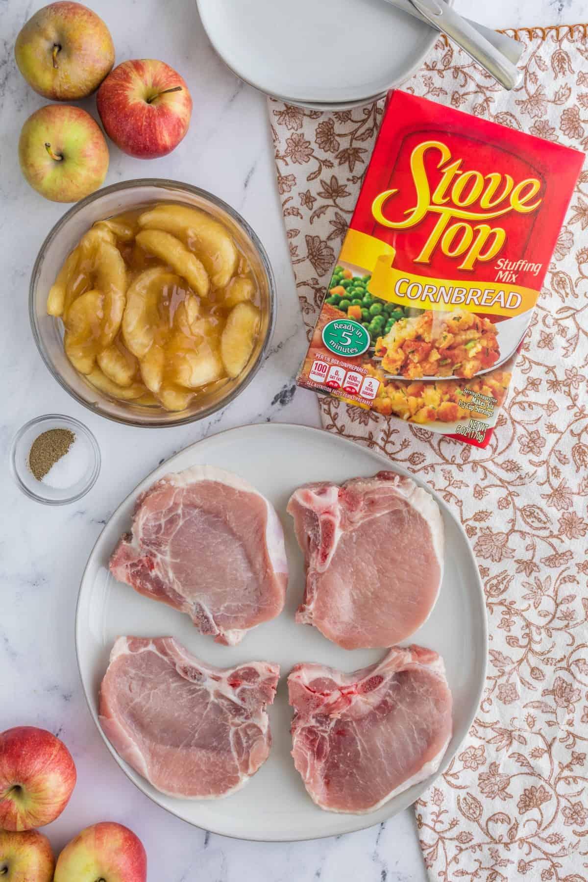 Ingredients for pork chops