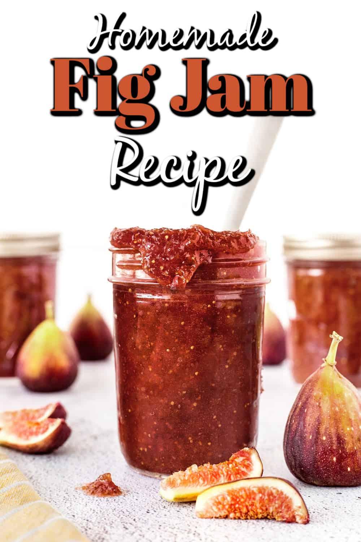 Homemade Fig Jam Recipe {Small Batch} Pin
