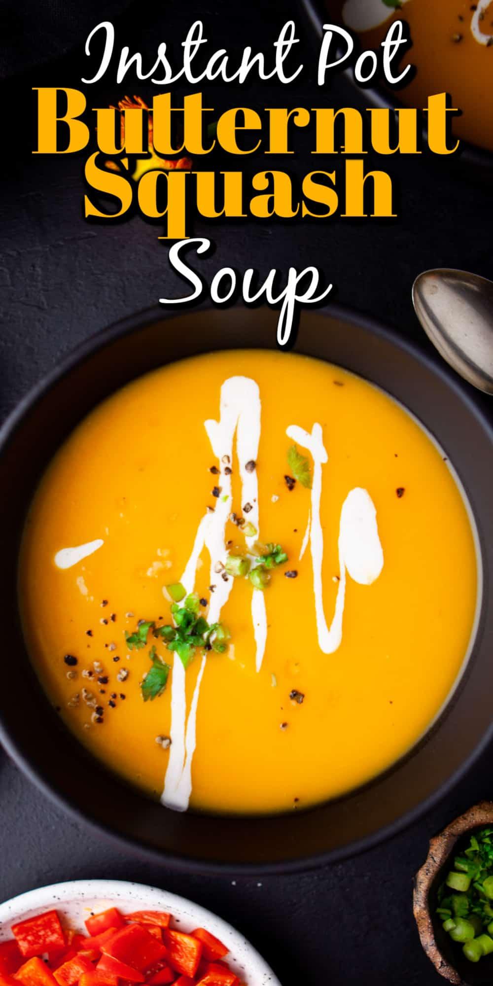 Instant Pot Butternut Squash Soup Pin