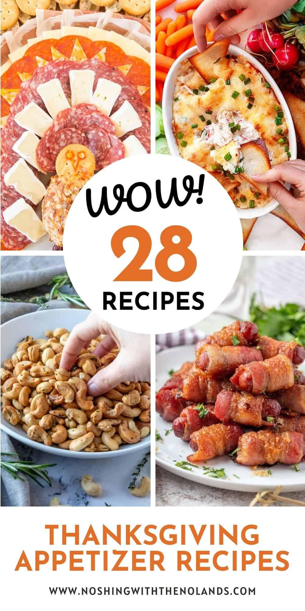 28 Scrumptious Thanksgiving Appetizers Pin