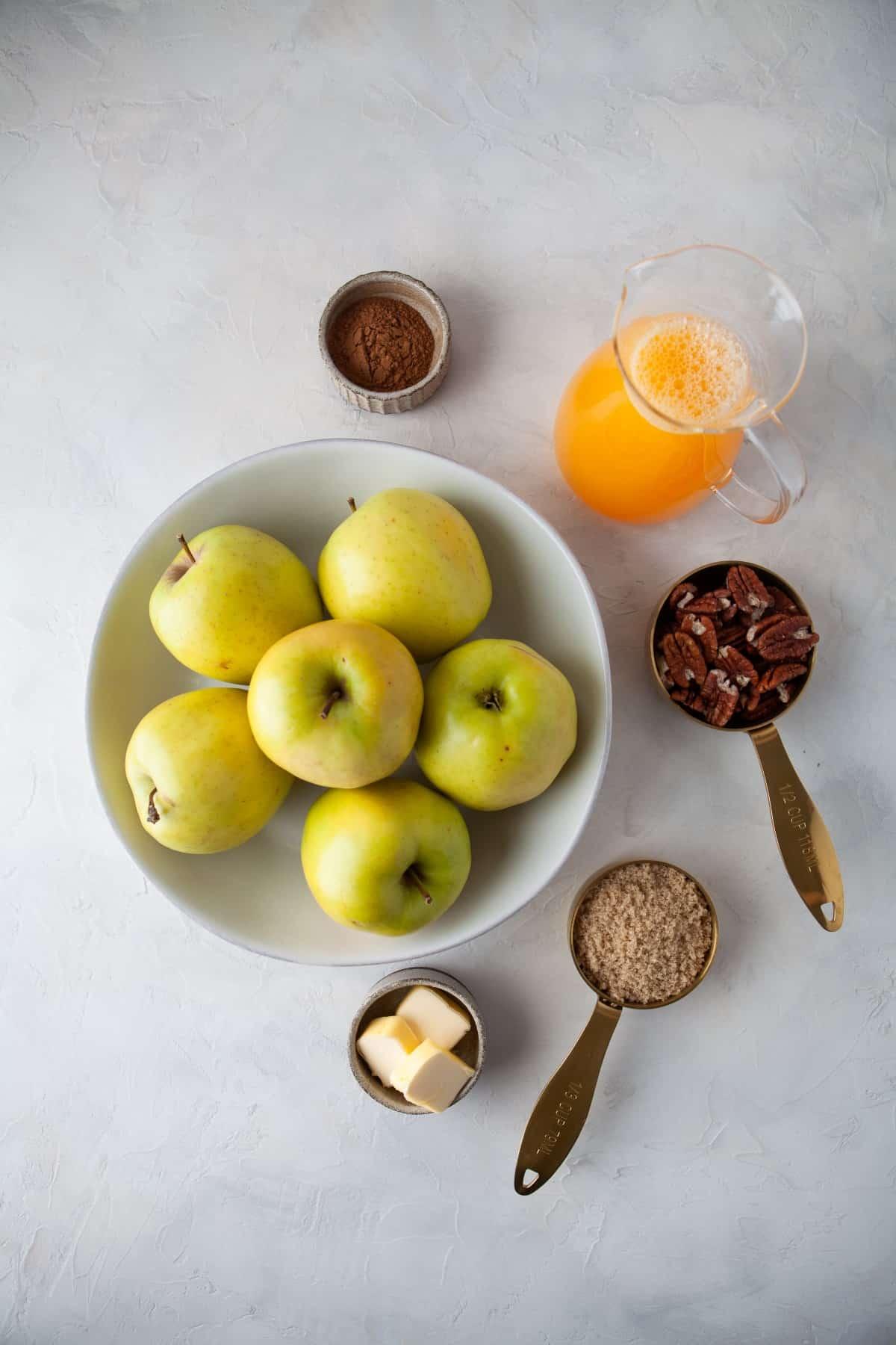 Ingredients for Cinnamon Baked Apples
