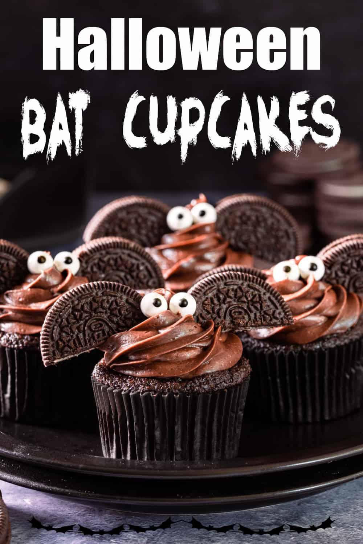 Halloween Bat Cupcakes Pin