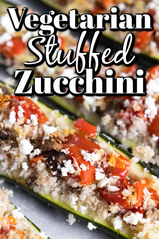 Delicious Vegetarian Stuffed Zucchini Pin