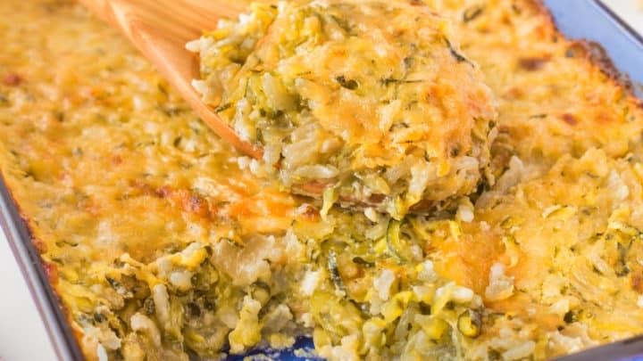 Zucchini Au Gratin with Rice